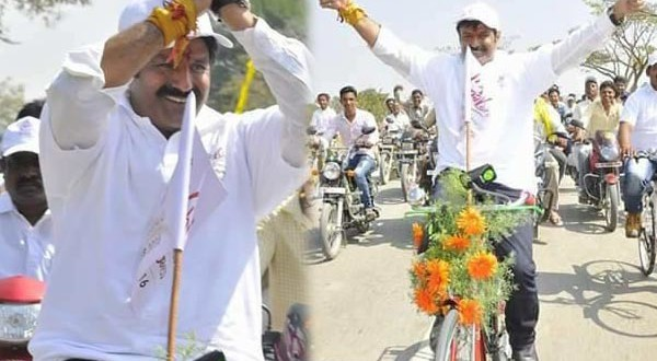 Balayya stuns everyone with his bicycle rally