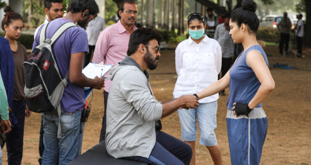 Working Stills : Guru (Venkatesh, Ritika)