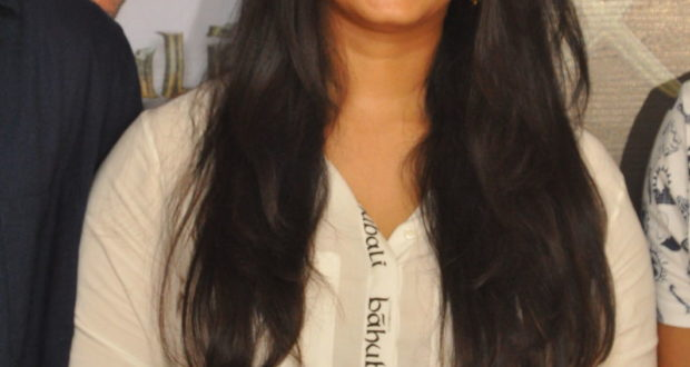 Anushka Shetty in Baahubali 2 promotion in Baahubali merchandise