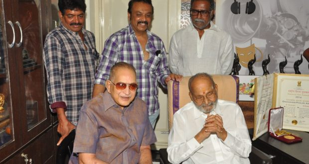 Superstar Mr. krishna meets Mr.K Viswanath